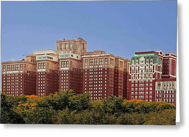 Hilton Chicago and Blackstone Hotel Greeting Card by Christine Till