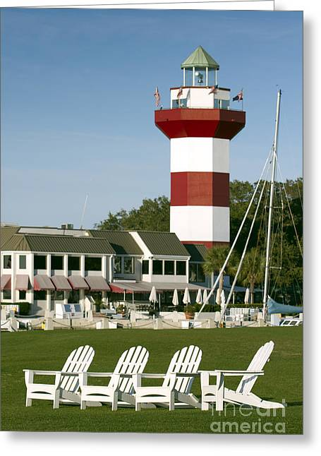 Course Greeting Cards - Hilton Head Island Lighthouse Greeting Card by Dustin K Ryan
