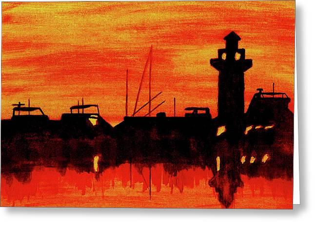 South Carolina Art Greeting Cards - Hilton Head Lighthouse Greeting Card by Michael Vigliotti