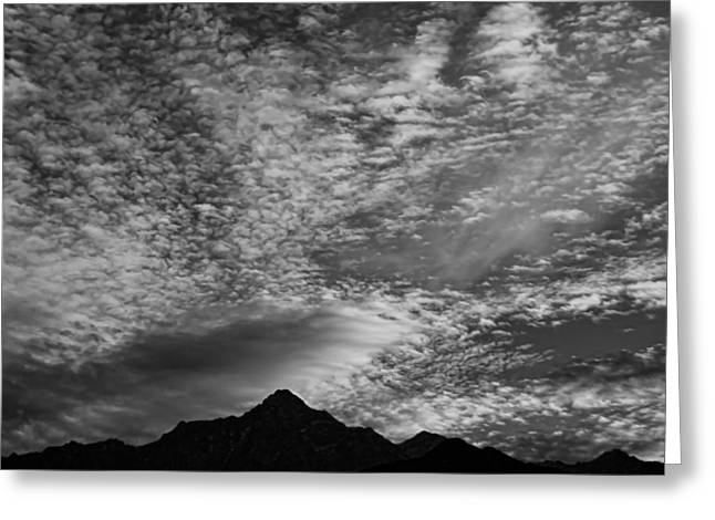 Himalayan Sky In Black And White Greeting Card by Don Schwartz
