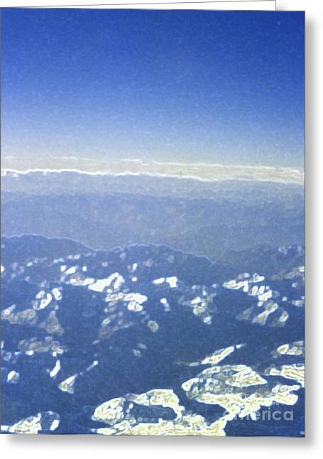 Himalayas Blue Greeting Card by First Star Art