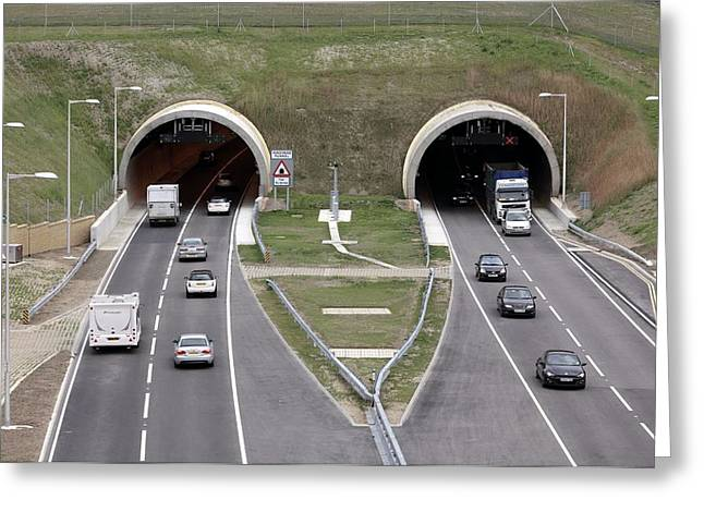 Travel Agency Greeting Cards - Hindhead Tunnel Greeting Card by Martin Bond