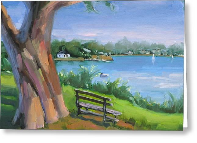 New England Ocean Greeting Cards - Hinghams Beauty Greeting Card by Laura Lee Zanghetti