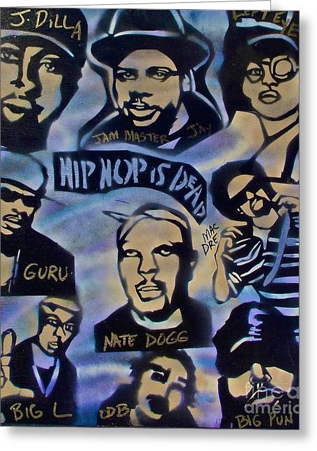 Free Speech Greeting Cards - Hip Hop Is Dead #1 Greeting Card by Tony B Conscious