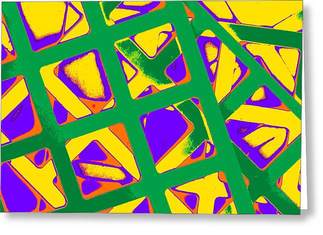 Colorization Greeting Cards - Hip to Be Square II Greeting Card by Dolly Mohr