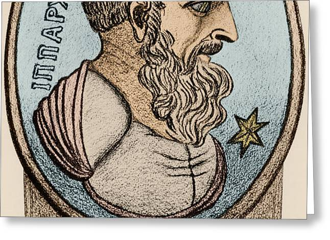Hipparchus, Greek Astronomer Greeting Card by Photo Researchers, Inc.