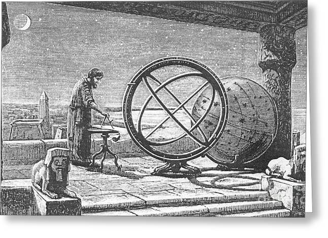 Hipparchus, Greek Astronomer Greeting Card by Science Source