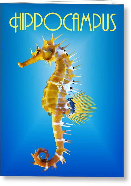 Hippocampus Greeting Cards - Hippocampus By Quim Abella Greeting Card by Joaquin Abella