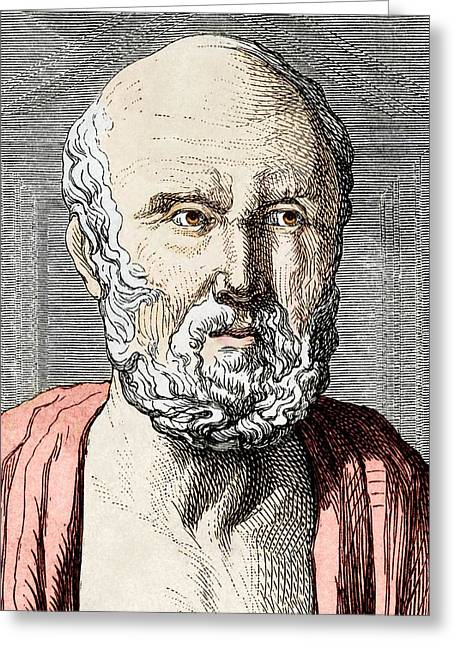 Hippocrates Greeting Cards - Hippocrates, Ancient Greek Physician Greeting Card by Sheila Terry