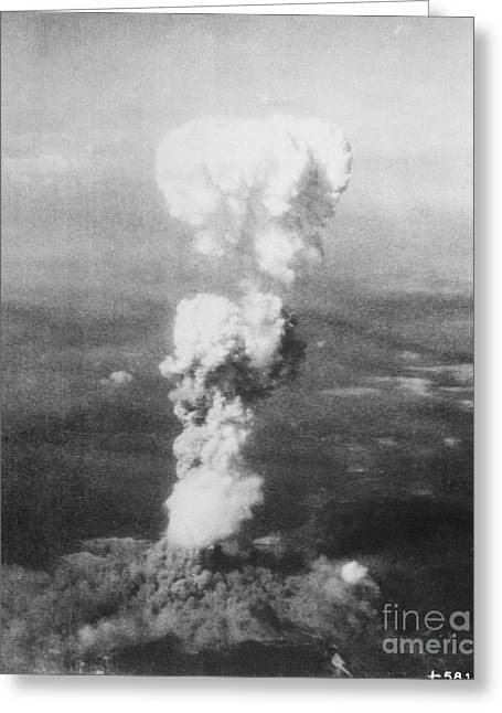 Little Boy Greeting Cards - Hiroshima Bombing Greeting Card by Photo Researchers