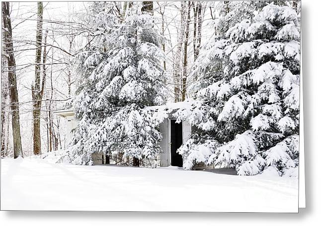 Outhouse Greeting Cards - His and Her Outhouses Greeting Card by Thomas R Fletcher
