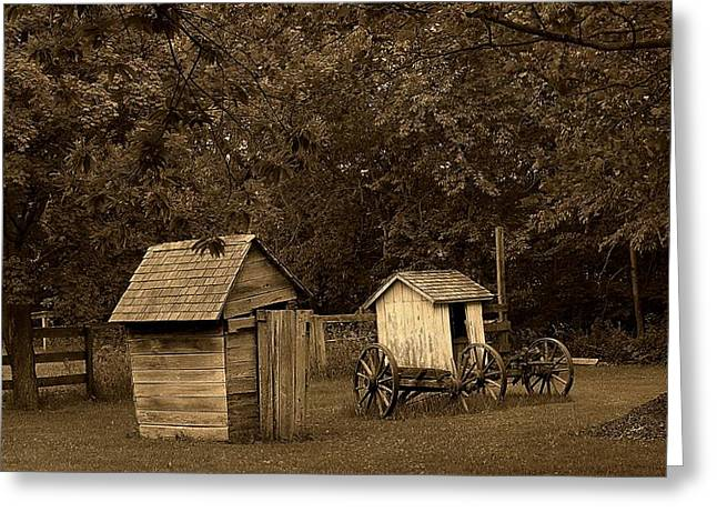 Wagon Wheels Greeting Cards - His and Hers Greeting Card by Scott Hovind