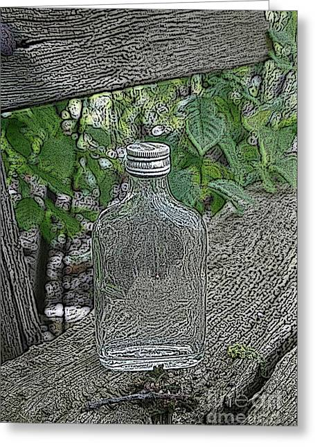 Seated Mixed Media Greeting Cards - His last drink Greeting Card by Stefan Kuhn