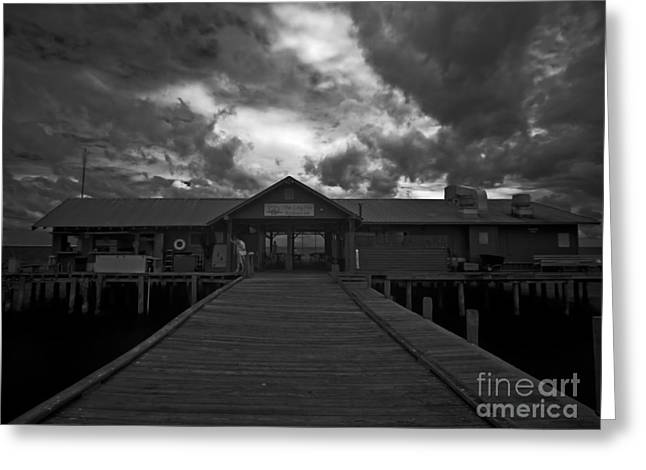 Historic City Pier Greeting Cards - Historic Anna Maria City Pier 9197439 Greeting Card by Rolf Bertram