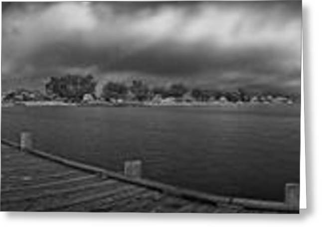 Anna Maria Island Greeting Cards - Historic Anna Maria City Pier in Infrared Greeting Card by Rolf Bertram