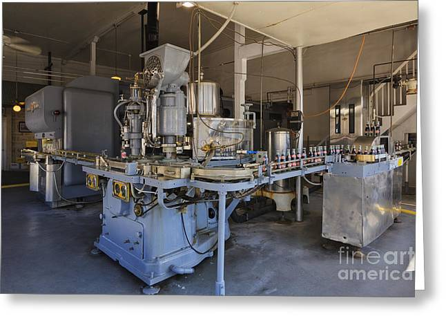 Conveyor Belt Greeting Cards - Historic Beverage Bottling Plant Greeting Card by Jeremy Woodhouse