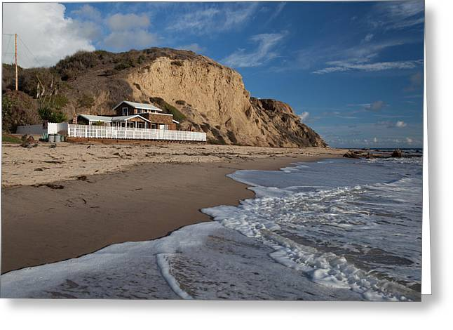 Sandstone Bluffs Greeting Cards - Historic Cottage  Crystal Cove State Beach Greeting Card by Cliff Wassmann