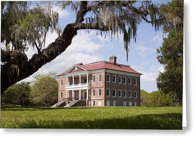 Plantation Photographs Greeting Cards - Historic Drayton Hall in Charleston South Carolina Greeting Card by Dustin K Ryan