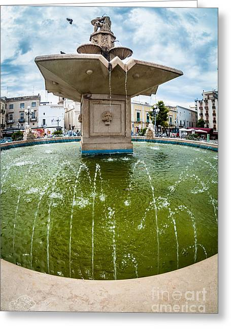 Historic Statue Greeting Cards - Historic fountain Greeting Card by Sabino Parente