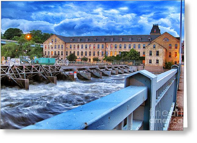 Appleton Greeting Cards - Historic Fox River Mills Greeting Card by Shutter Happens Photography