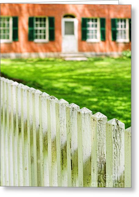 Deerfield Greeting Cards - Historic Home Greeting Card by HD Connelly