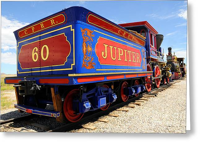 Historic Jupiter Train - Promontory Point National Historic Park Greeting Card by Gary Whitton