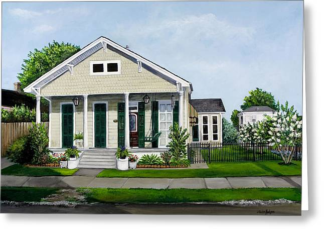 Crape Greeting Cards - Historic Louisiana Home and Garden Greeting Card by Elaine Hodges