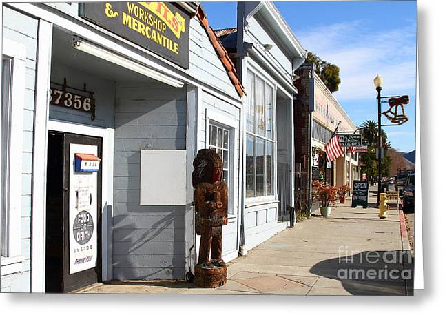 Historic Niles District In California Near Fremont . Devils Workshop And Mercantile . 7d10660 Greeting Card by Wingsdomain Art and Photography