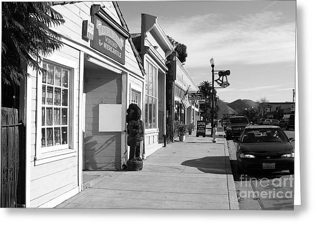 Devils Workshop And Mercantile Greeting Cards - Historic Niles District in California Near Fremont . Devils Workshop and Mercantile . 7D10663 . bw Greeting Card by Wingsdomain Art and Photography