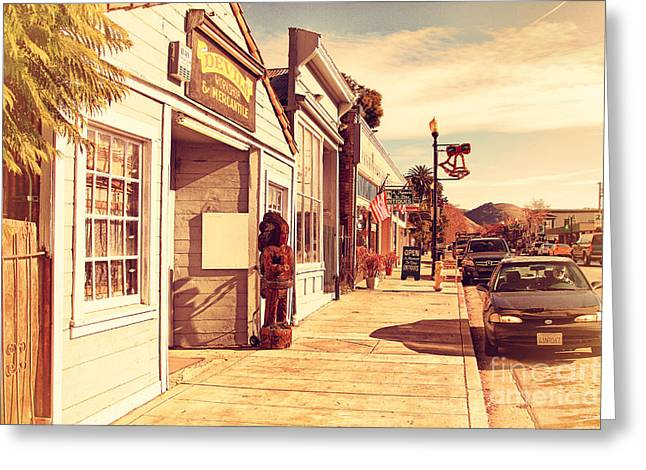Historic Niles District In California Near Fremont . Devils Workshop And Mercantile . 7d10663 Greeting Card by Wingsdomain Art and Photography