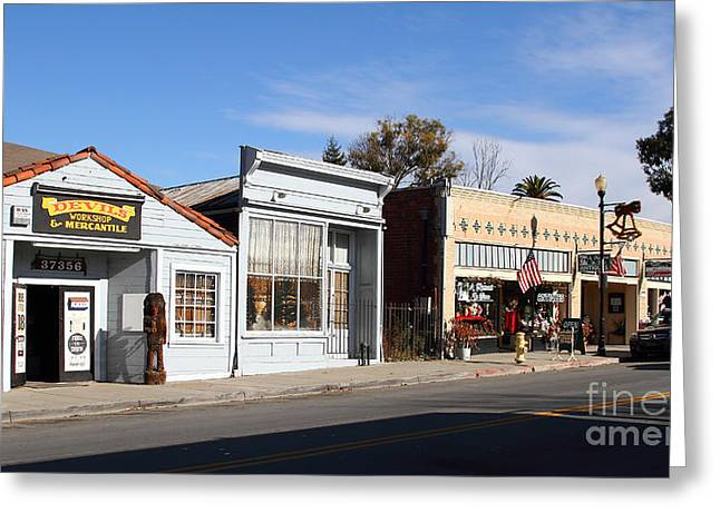 Long Street Greeting Cards - Historic Niles District in California Near Fremont . Main Street . Niles Boulevard . 7D10676 Greeting Card by Wingsdomain Art and Photography