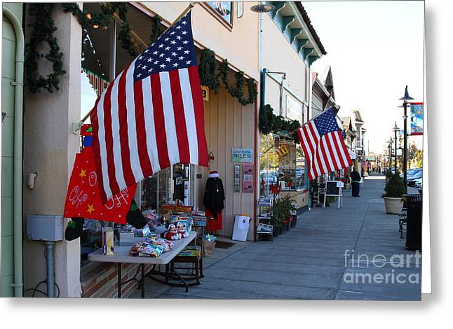 Historic Niles District in California Near Fremont . Main Street . Niles Boulevard . 7D10692 Greeting Card by Wingsdomain Art and Photography