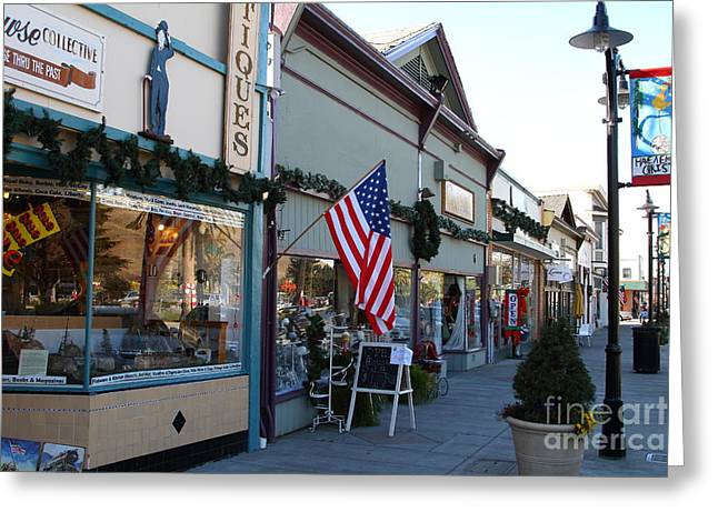 Niles Main Street Greeting Cards - Historic Niles District in California Near Fremont . Main Street . Niles Boulevard . 7D10701 Greeting Card by Wingsdomain Art and Photography