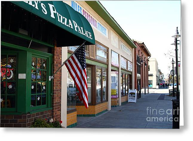 Niles Main Street Greeting Cards - Historic Niles District in California Near Fremont . Main Street . Niles Boulevard . 7D10706 Greeting Card by Wingsdomain Art and Photography