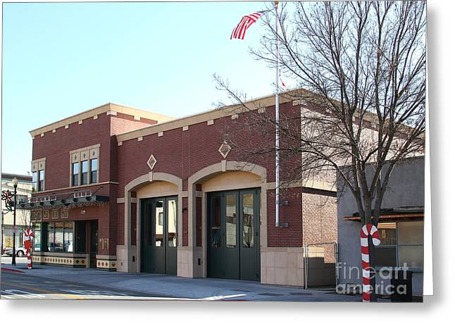 Niles Canyon Railway Greeting Cards - Historic Niles District in California Near Fremont . Niles Fire Station Number 2 . 7D10732 Greeting Card by Wingsdomain Art and Photography