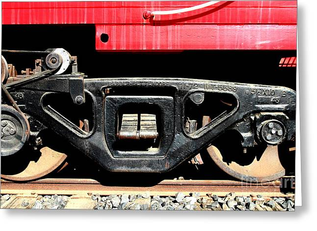 Historic Niles District in California Near Fremont . Western Pacific Caboose Train . 7D10625 Greeting Card by Wingsdomain Art and Photography