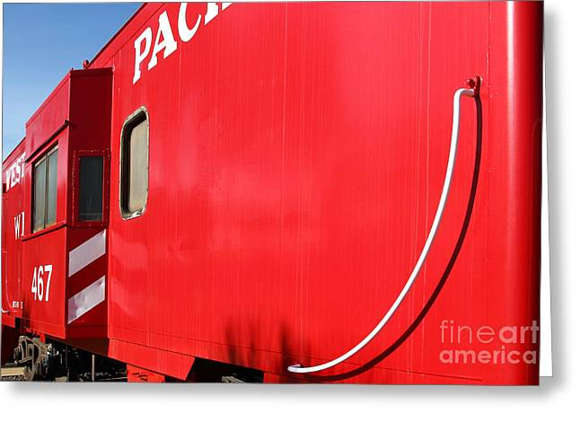 Old Cabooses Greeting Cards - Historic Niles District in California Near Fremont . Western Pacific Caboose Train . 7D10724 Greeting Card by Wingsdomain Art and Photography