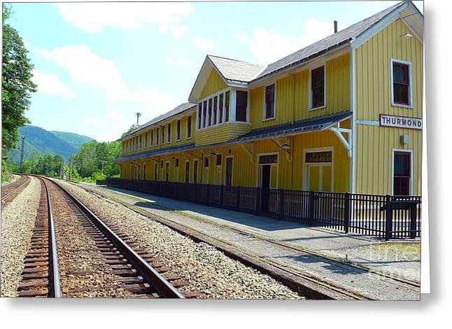 Train Depot Greeting Cards - Historic Passenger Train Depot Thurmond West Virginia Greeting Card by Thomas R Fletcher