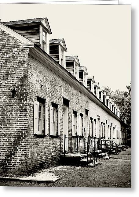 Row Homes Greeting Cards - Historic Row Homes Allaire Village Greeting Card by Terry DeLuco