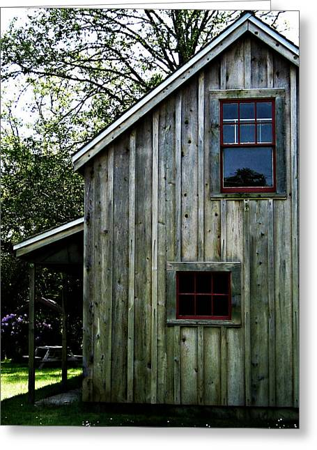 Wood Shed Greeting Cards - Historic Shed Greeting Card by Mg Rhoades