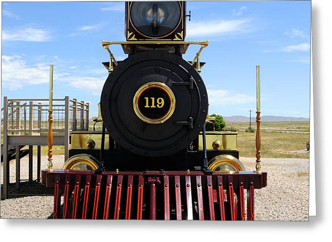 Historic Steam Locomotive Greeting Card by Gary Whitton