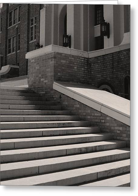 Desegregation Greeting Cards - Historic Steps Little Rock Central High School Greeting Card by Brian M Lumley