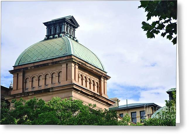 Macquarie Greeting Cards - Historic Sydney Hospital - Dome Roof Greeting Card by Kaye Menner