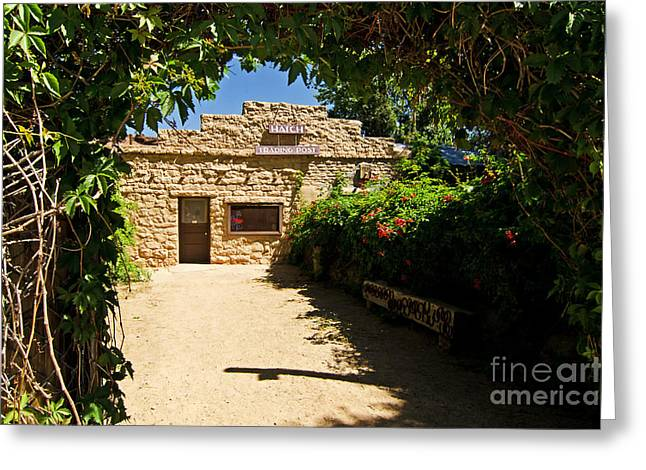 Historic Trading Post Greeting Card by Bob and Nancy Kendrick