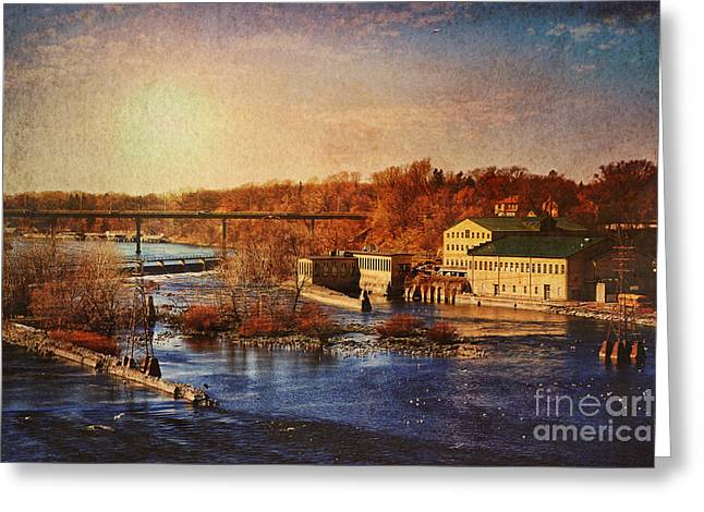 Paper Mill Greeting Cards - Historic Vulcan Paper Mill Greeting Card by Joel Witmeyer