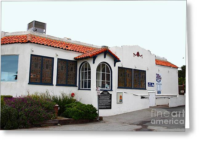 Historical Moss Beach Distillery at Half Moon Bay . 7D8168 Greeting Card by Wingsdomain Art and Photography