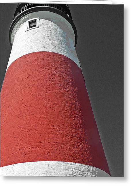 Becky Greeting Cards - Historical Sankaty Head Lighthouse Greeting Card by Becky Lodes