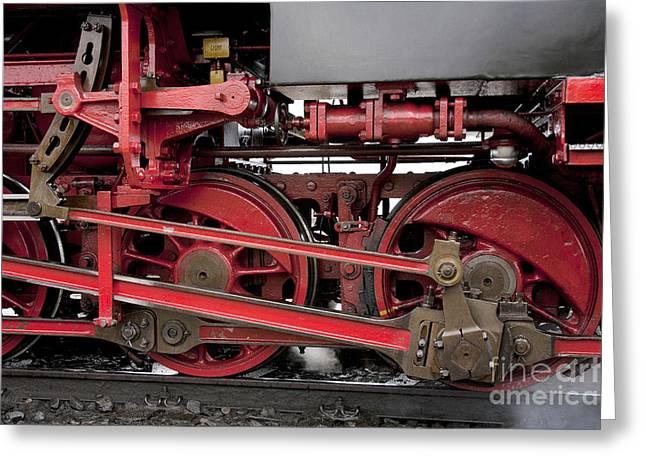 Historical Steam Train Greeting Card by Heiko Koehrer-Wagner