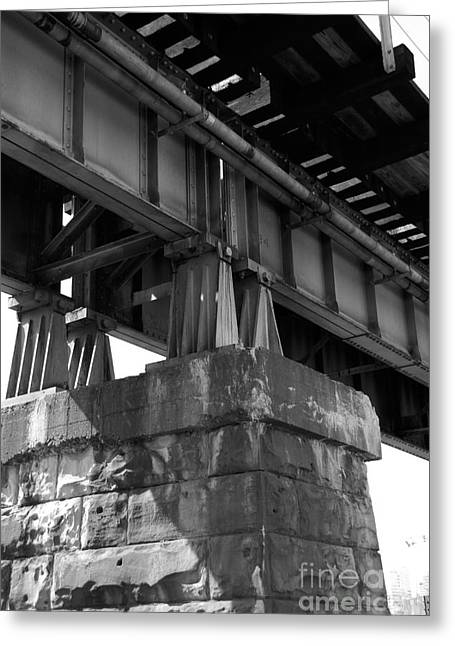 Train Bridge Greeting Cards - Historical Support Greeting Card by Kelvin Booker