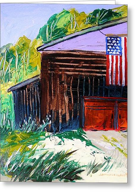 Barn Door Drawings Greeting Cards - History and Glory Greeting Card by John  Williams